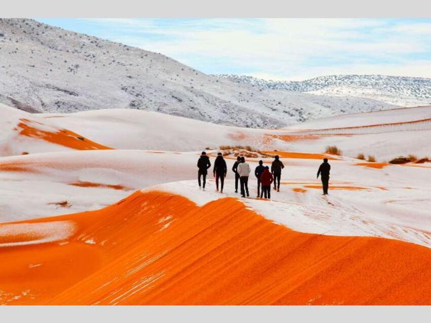 neige au Sahara(de superbes photos reçus en cadeau)