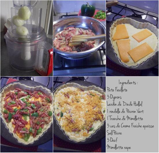 Tarte Gourmande { Dinde, Legumes é Cheese }