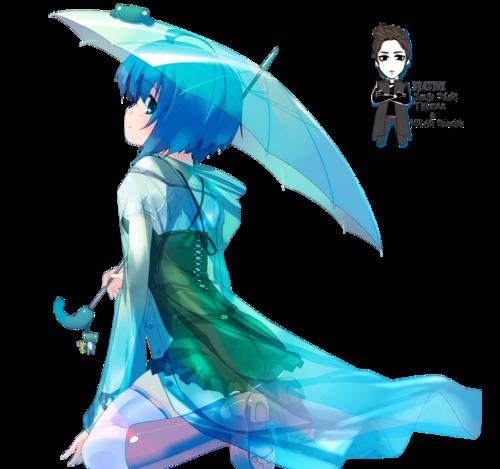 Render Filles/Femmes - Renders Fille Bleu parapluie impermeable Refeia