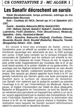 CSC-MCA 2005/2006