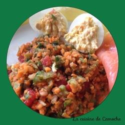 salade carottes tomates concombre