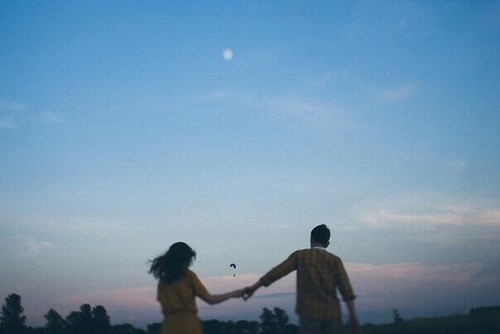 Image de love, couple, and sky