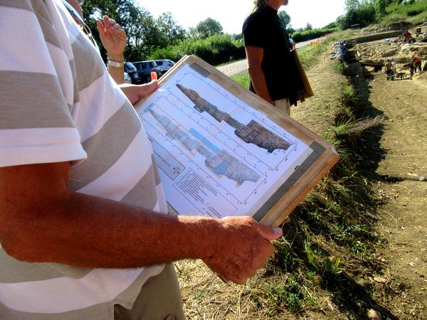 Les adhérents de la Société Archéologique et Historique du Châtillonnais (SAHC) ont visité pour la dernière fois les fouilles à Vix
