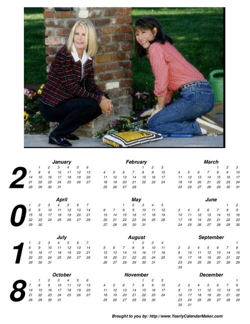 Various calendars in english .Divers calendriers en anglais.