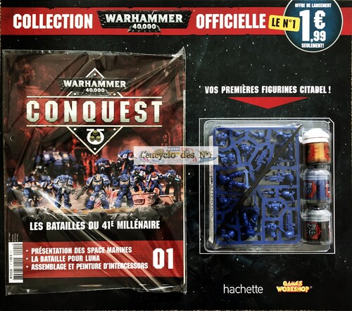 N° 1 Collection officielle Warhammer 40000 Conquest - Test