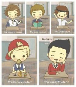 Les One Direction à l'école!