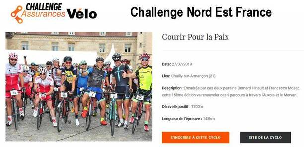 Challenge Nord Est France Assurances vélo
