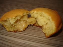 Muffins fourrés à la confiture de lait