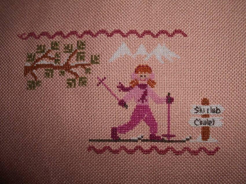 Lili au ski