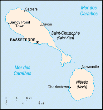 Saint Kitts and Nevis carte