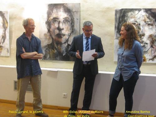 Pascal Girard à la Galerie del Gall à Palau del Vidre.