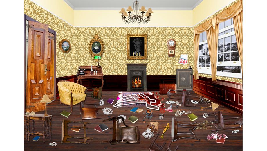 People In The Living Room Cartoon