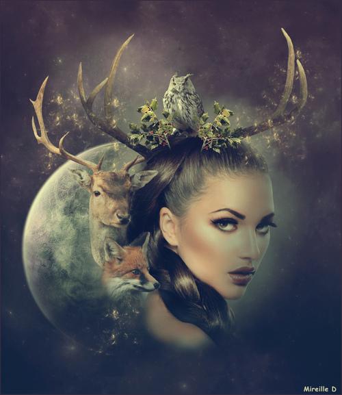 Portrait Nature Créatif (Photomontage)