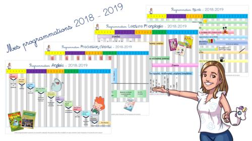 Mes programmations 2018 - 2019