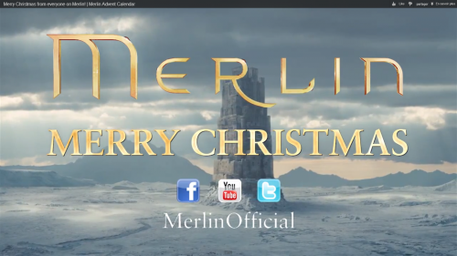 "Day 25 : Vidéo ""Every christmas from everyone on Merlin"""