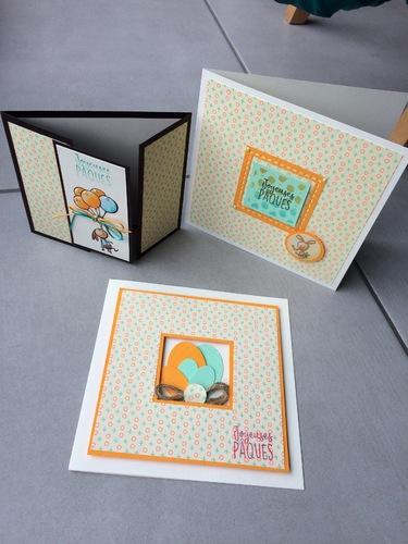 Cartes de Pâques avec la pochette plaisir de créer