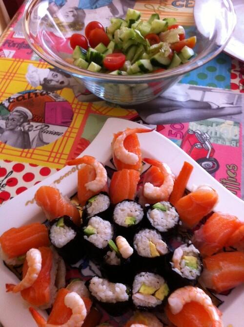 Recette de sushis avec Tupperware.