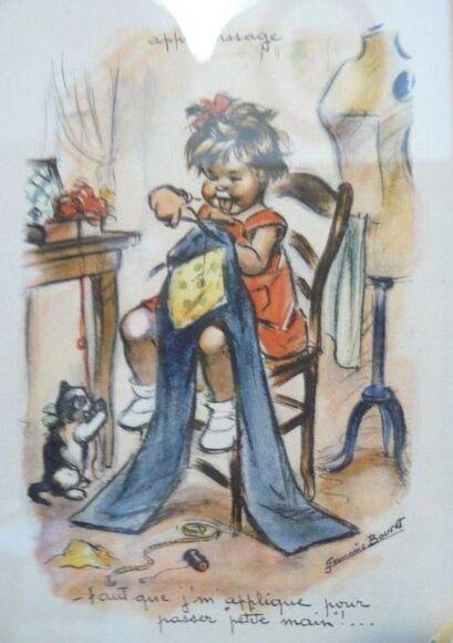 """Résultat de recherche d'images pour """"dessin COUTURE BRODERIE original de germaine bouret"""""""