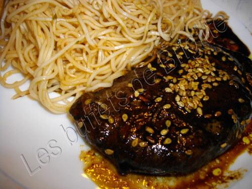 Filets de  canard au soja