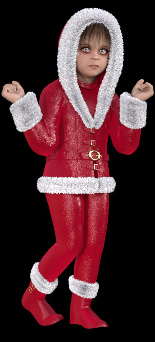 Image fillette de Noël (tube-render)