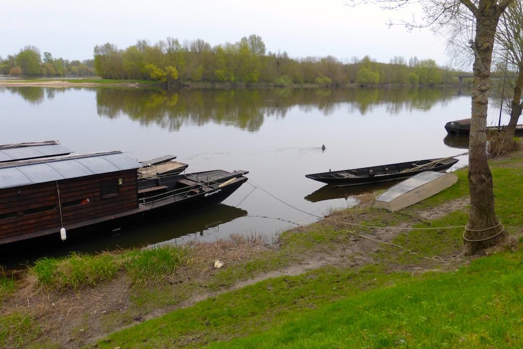 Candes Saint Martin 1. Le confluent de la Loire et de la Vienne.