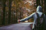 File:Hitchhiker in a forest.jpg - Wikimedia Commons