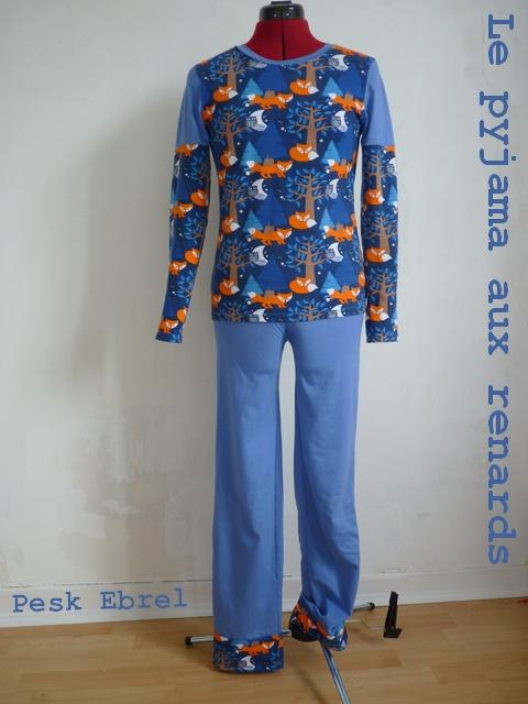 Pyjama d'hiver aux Renards - Pesk Ebrel