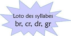 "Loto des syllabes ""bl, cl..."""