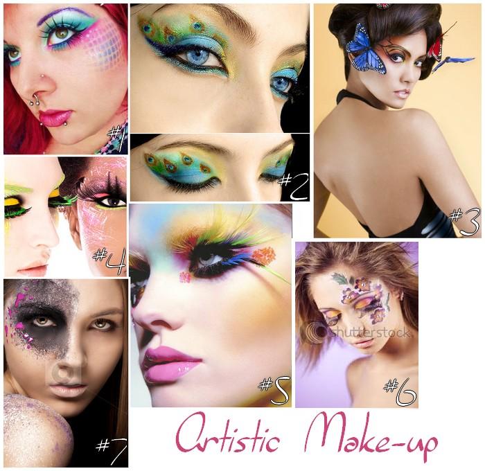 Défi du lundi: Artistic Makeup
