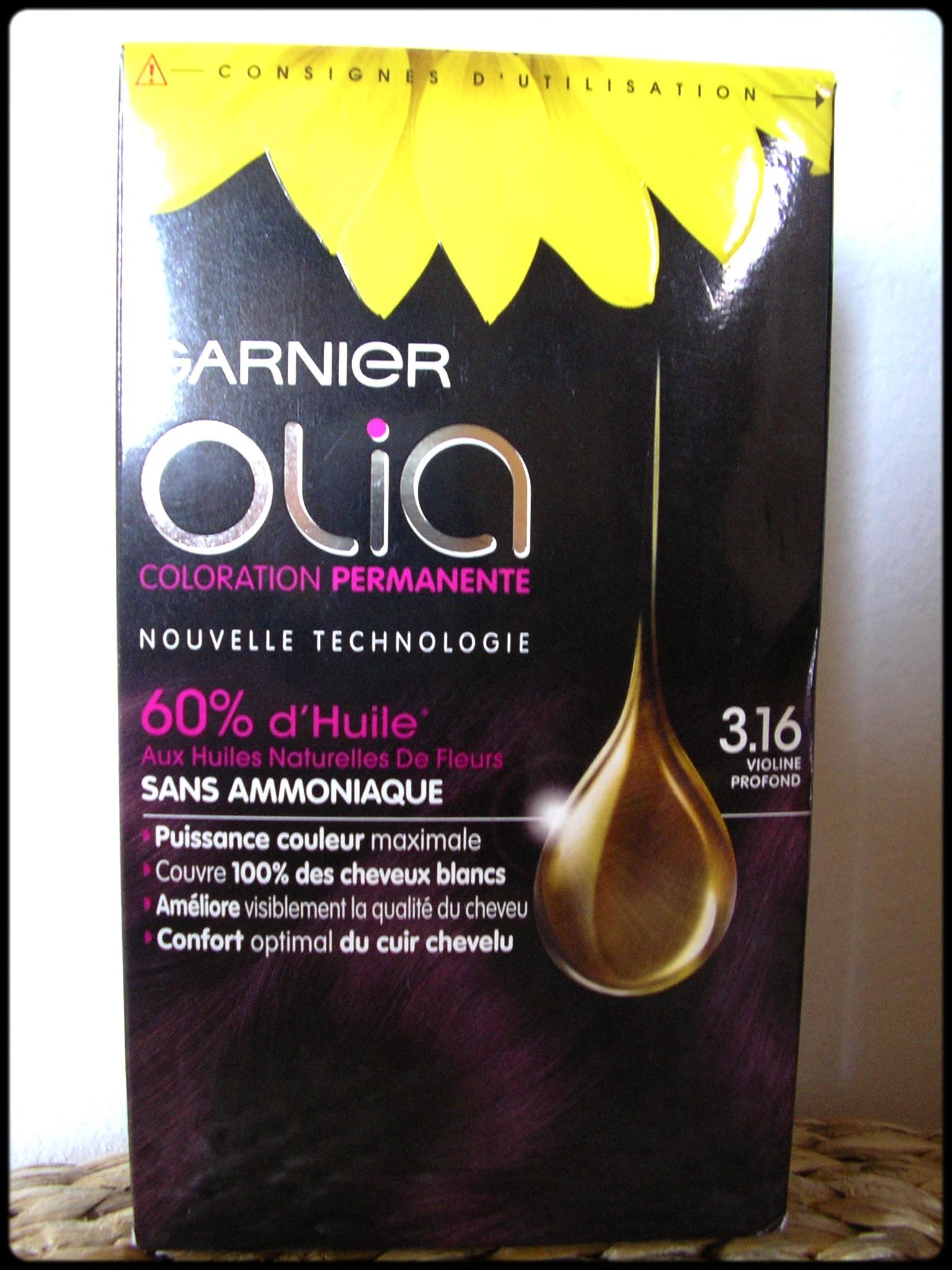 Coloration cheveux garnier olia