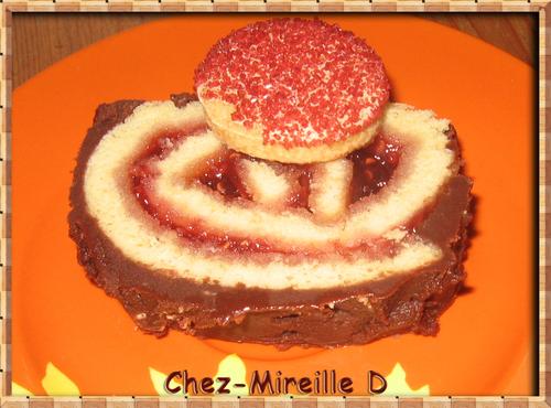 Gâteau Roulé Framboise et Chocolat