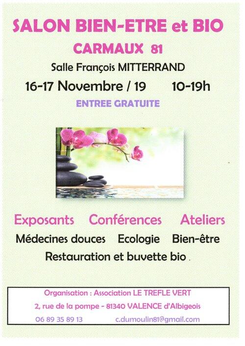 16  17  Novembre 2019  Salon Bien Etre  CARMAUX  81