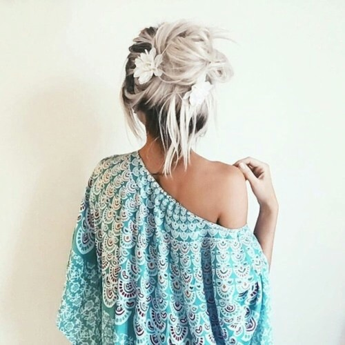 Image de hair, flowers, and hairstyle