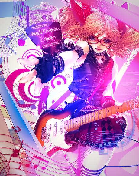 lp rock femme guitare