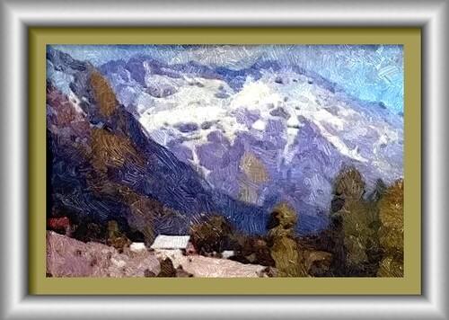 Dessin et peinture - vidéo 2215 : Un paysage montagneux décliné à la peinture à l'huile ou acrylique.