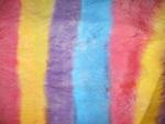 Foulard en soie, jaune, bleu, mauve, rose