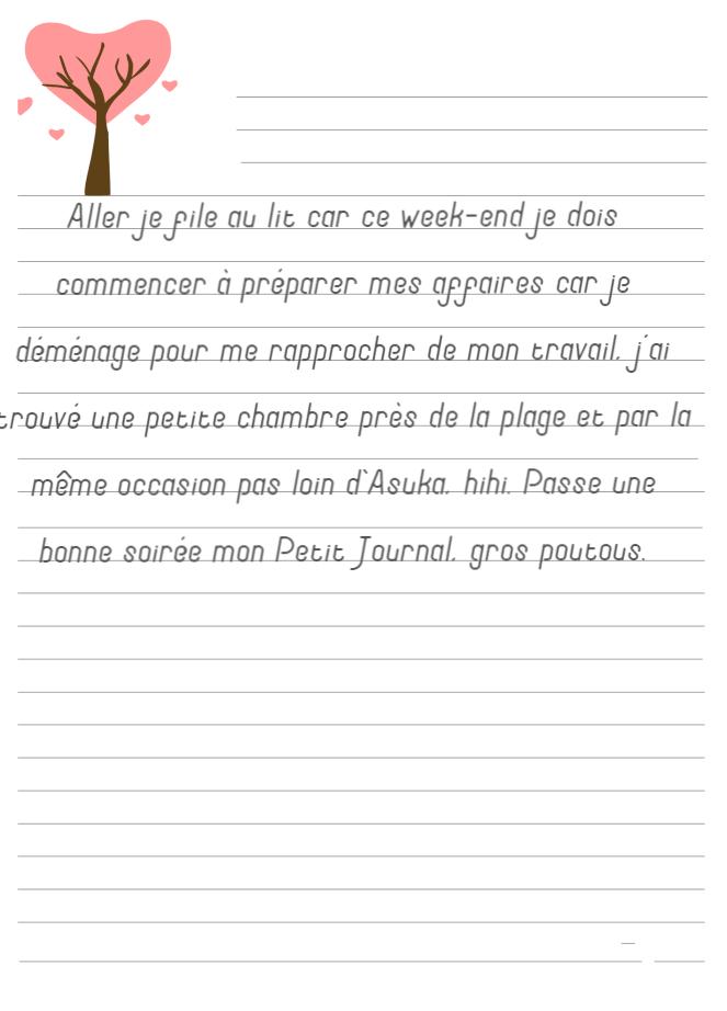 Journal de Mireille, 5 Juillet 2019