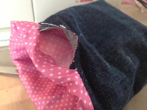 DIY, paniers de rangements en jean.
