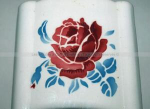 Beau moulin mural ancien AS à la rose trémie nervurée
