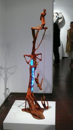 """le saut du """"gaul """".  expo collectve au centre d'art de la ville de Nouméa"""