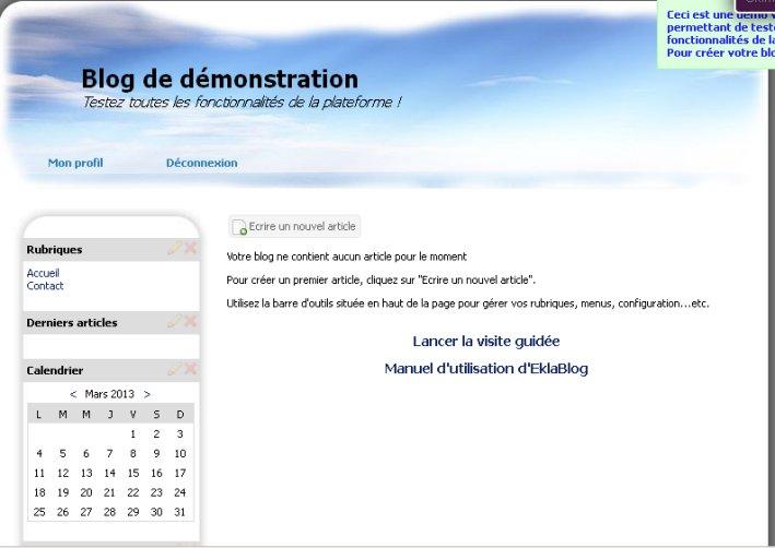 Modification du thème utilisé sur Eklablog