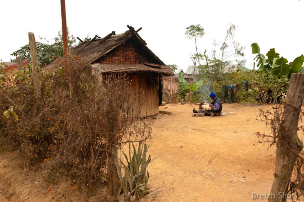 bambou - tresseur - laos