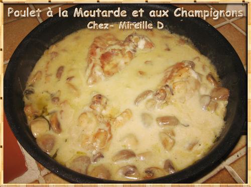 Poulet à la Moutarde et aux Champignons