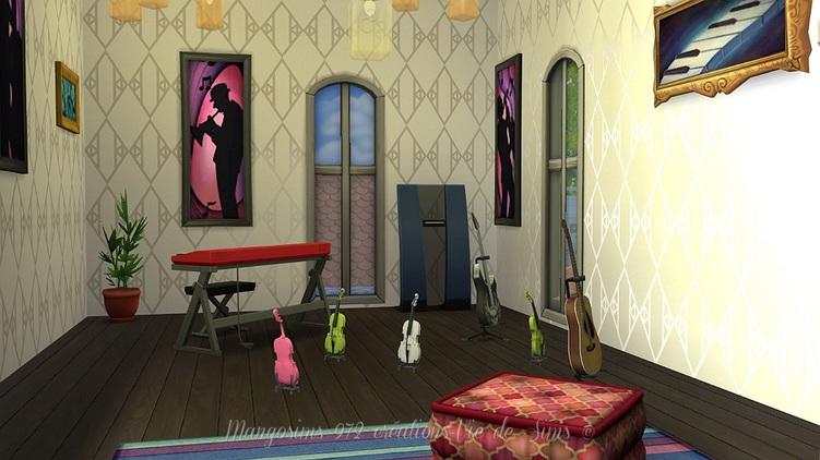 Ecole privée le colibri rouge sans cc #sims4 partie 1
