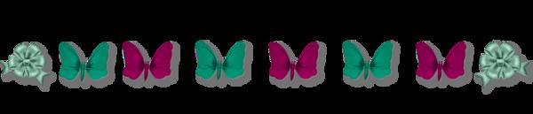 Barres séparation papillons