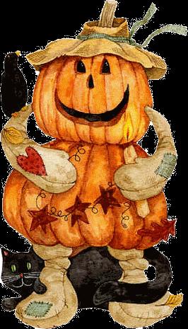 Tubes halloween épouvantails