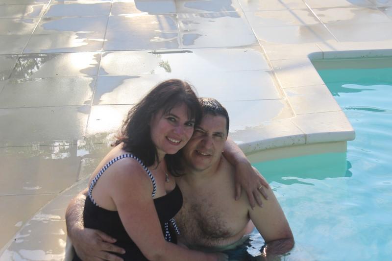 A la piscine du gîte