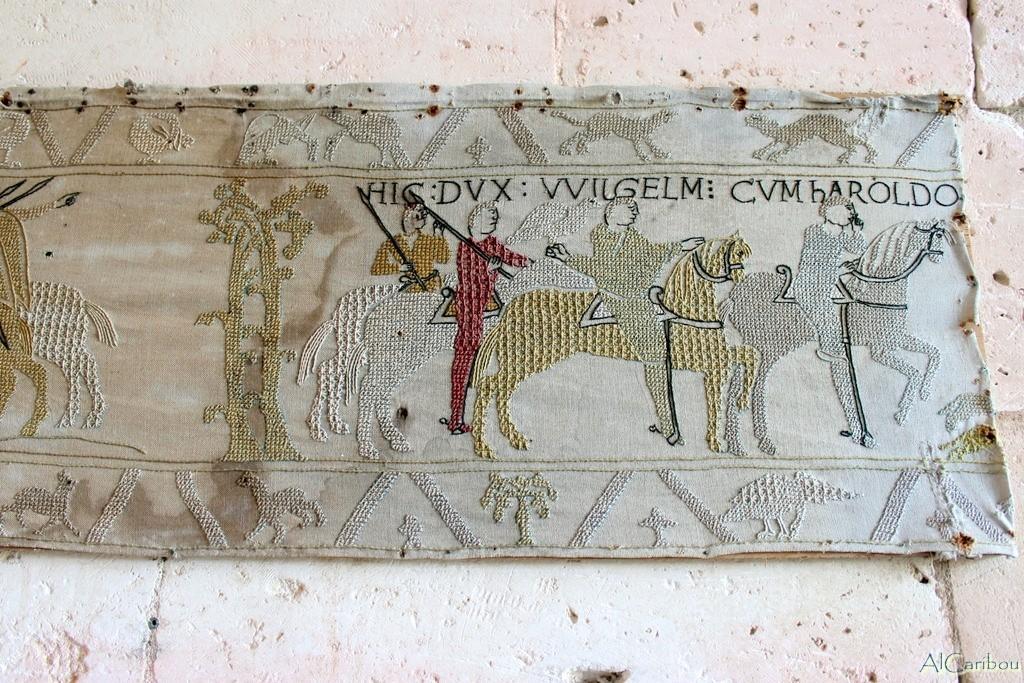 Tapisserie de Bayeux (copie au château de Bourdeilles, Dordogne)