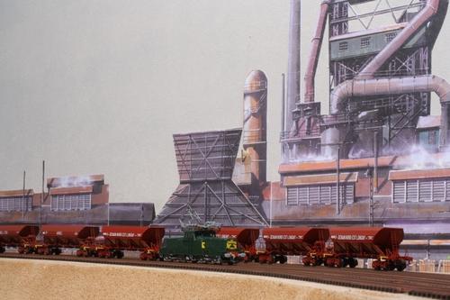 Un fond de décor industriel