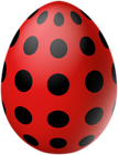 Red Dotted Easter Egg PNG Clipart